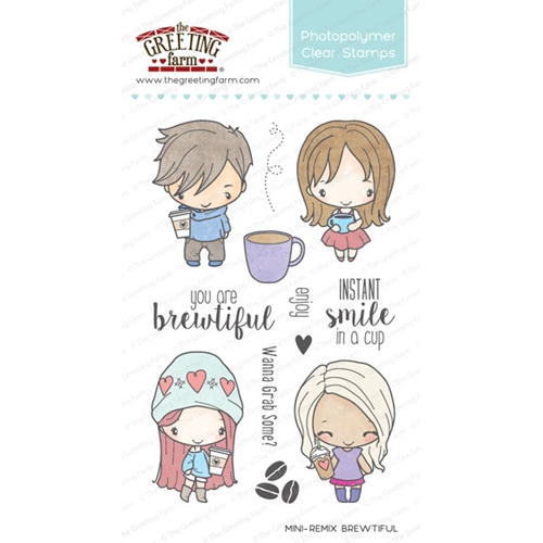 The Greeting Farm MINI REMIX BREWTIFUL Clear Stamps TGF242 Preview Image