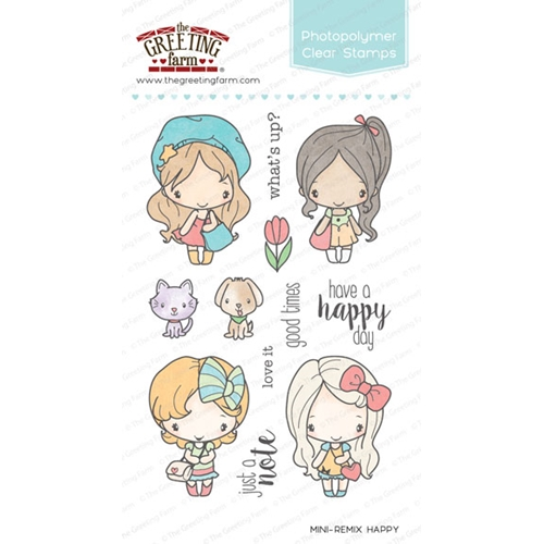 The Greeting Farm MINI REMIX HAPPY Clear Stamps TGF240 Preview Image