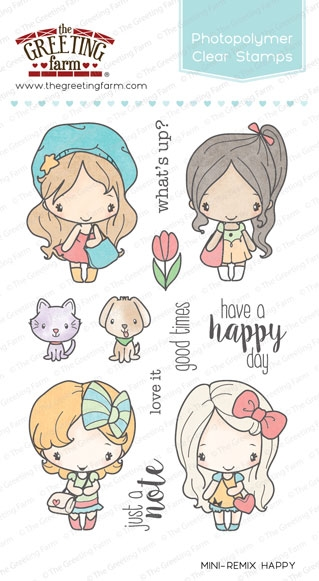 The Greeting Farm MINI REMIX HAPPY Clear Stamps TGF240 zoom image