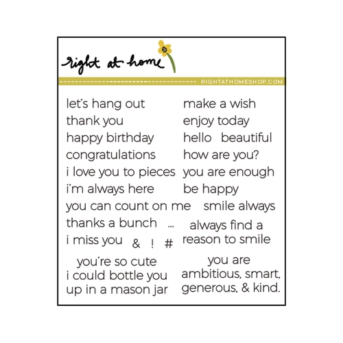Right At Home TINY SENTIMENTS Clear Stamp 688128 Preview Image