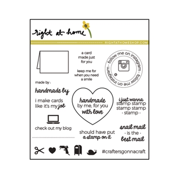 Right At Home HANDMADE BY ME Clear Stamp 688135