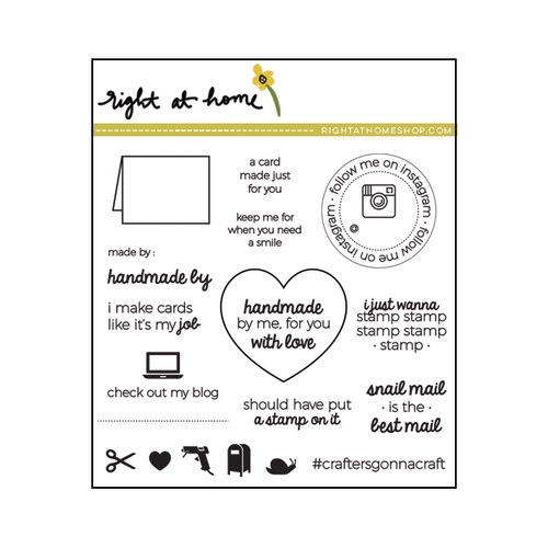 Right At Home HANDMADE BY ME Clear Stamp 688135 zoom image