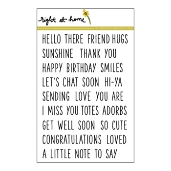 Right At Home SIMPLE SENTIMENTS Clear Stamp 688227