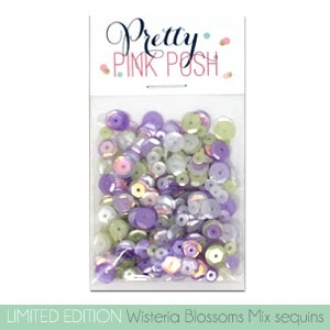 Pretty Pink Posh WISTERIA BLOSSOMS MIX Cupped Sequins