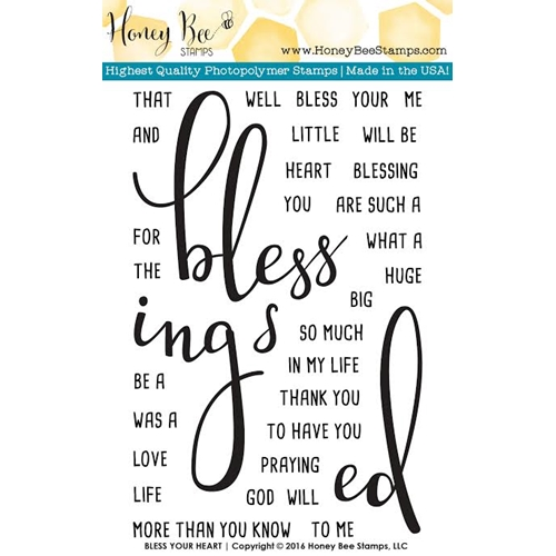 Honey Bee BLESS YOUR HEART Clear Stamp Set HBST-021 Preview Image