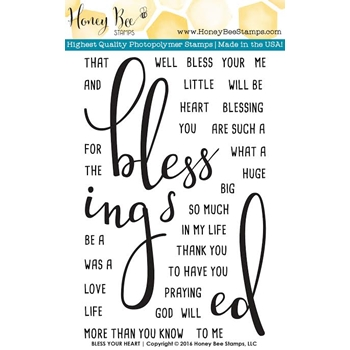 Honey Bee BLESS YOUR HEART Clear Stamp Set HBST-021