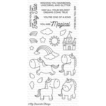 My Favorite Things MAGICAL UNICORNS Clear Stamps BB34