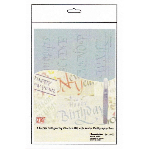 Zig Kuretake CALLIGRAPHY PRACTICE KIT With Water Pen INPK001* Preview Image