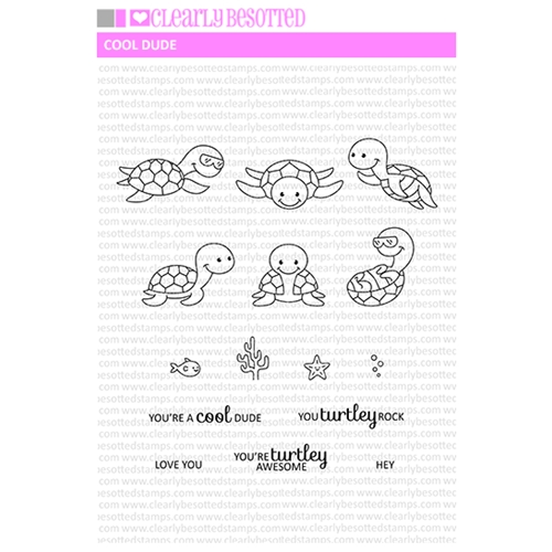 Clearly Besotted COOL DUDE Clear Stamp Set  Preview Image