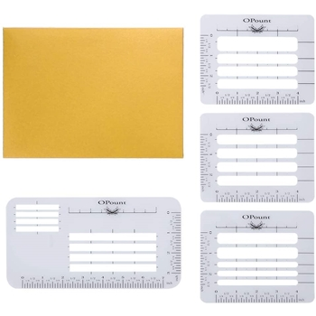 Opount ENVELOPE ADDRESSING GUIDE Stencil Set op-0043