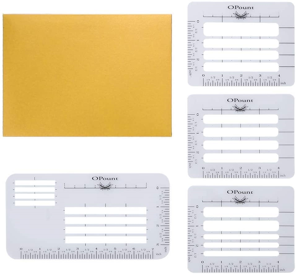 Opount ENVELOPE ADDRESSING GUIDE Stencil Set op-0043 zoom image