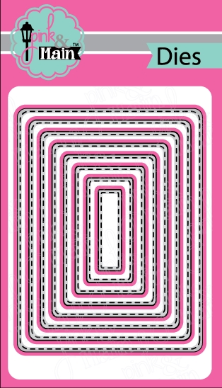 Pink and Main STITCHED ROUNDED RECTANGLES Die Set PNM033 zoom image