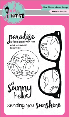 Pink and Main SUNNY HELLO Clear Stamp Set PM0184 zoom image