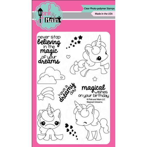 Pink and Main MAGICAL UNICORNS Clear Stamp Set PM0180 Preview Image