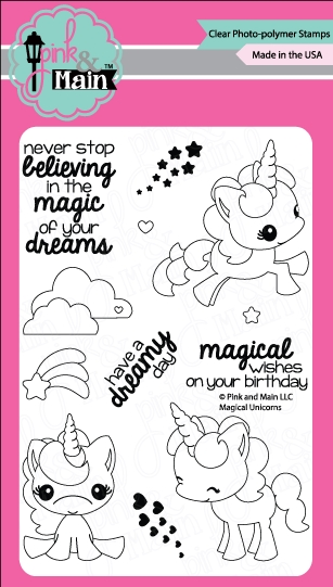Pink and Main MAGICAL UNICORNS Clear Stamp Set PM0180 zoom image