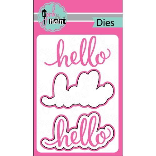 Pink and Main HELLO DIE Set PNM035 Preview Image