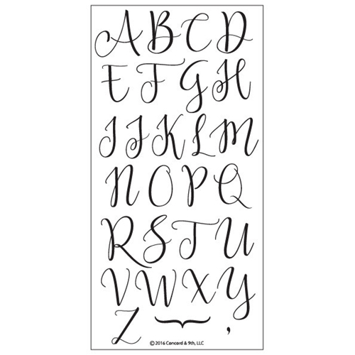 Concord & 9th SOPHISTICATED SCRIPT UPPERCASE Clear Stamp Set 10088C9 Preview Image