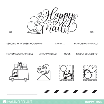 Mama Elephant Clear Stamps HAPPY MAIL*