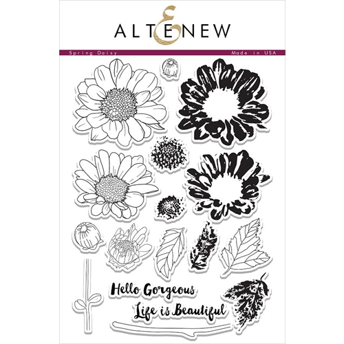 Altenew SPRING DAISY Clear Stamp Set ALT1034 Preview Image