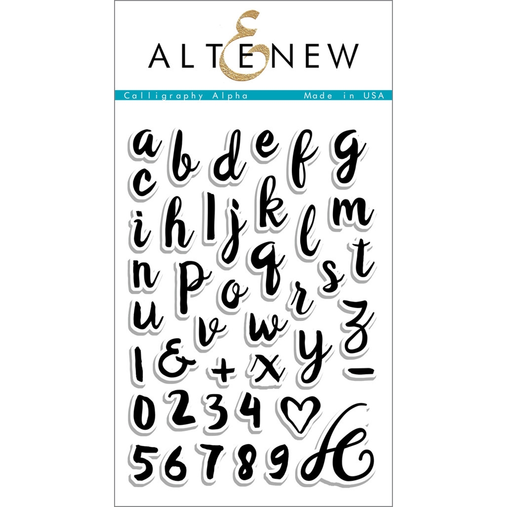 Altenew CALLIGRAPHY ALPHA Clear Stamp Set ALT1104 zoom image