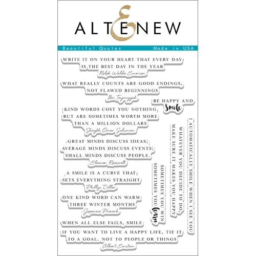 Altenew BEAUTIFUL QUOTES Clear Stamp Set ALT1103 Preview Image