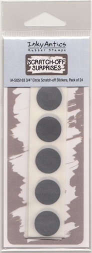 Inky Antics MINI CIRCLE Scratch Off Stickers IASOS103 zoom image