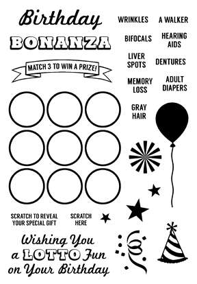 Inky Antics BIRTHDAY BONANZA Clear Stamp Set 11338MC* Preview Image