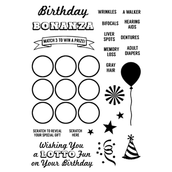 Inky Antics BIRTHDAY BONANZA Clear Stamp Set 11338MC