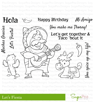 SugarPea Designs LET'S FIESTA Clear Stamp Set SPD00065 Preview Image