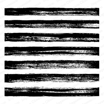 Impression Obsession Cling Stamp PAINTED STRIPES Create A Card CC250*