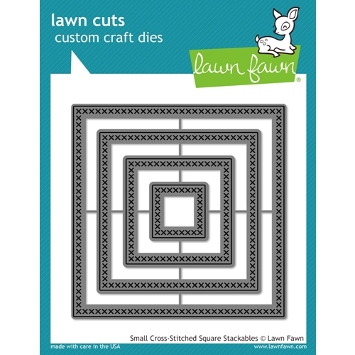 Lawn Fawn SMALL CROSS-STITCHED SQUARE STACKABLES Lawn Cuts Dies LF1183 Preview Image