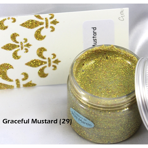 Cosmic Shimmer GRACEFUL MUSTARD Sparkle Texture Paste 908493* Preview Image