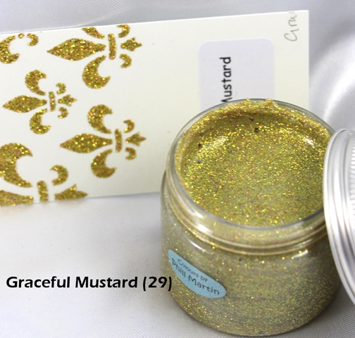 Cosmic Shimmer GRACEFUL MUSTARD Sparkle Texture Paste 908493* zoom image