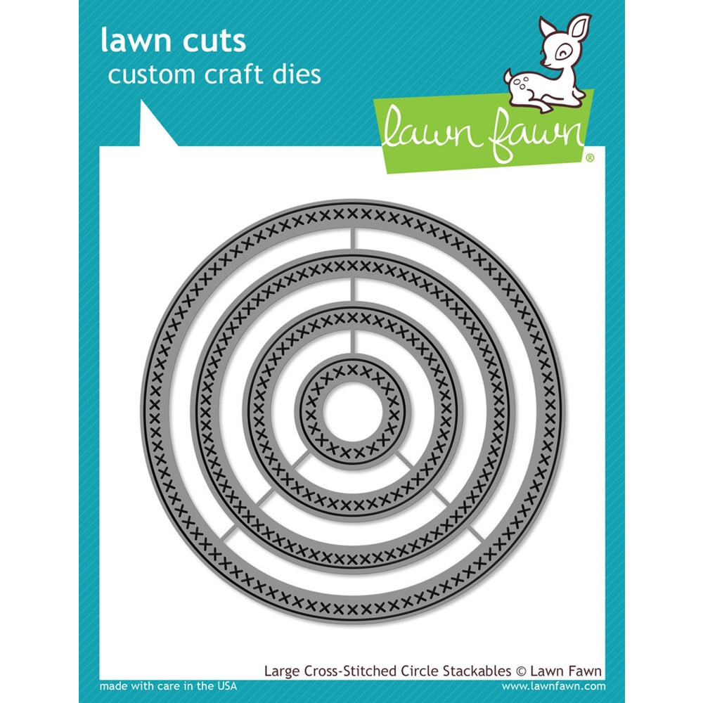 Lawn Fawn LARGE CROSS-STITCHED CIRCLE STACKABLES Lawn Cuts Dies LF1180 zoom image
