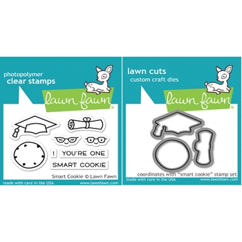 Lawn Fawn SET LF16SETSC SMART COOKIE Clear Stamps and Dies