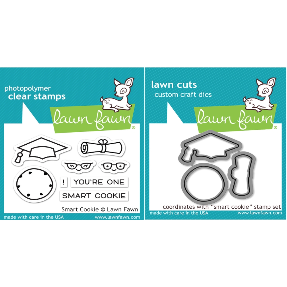 Lawn Fawn SET LF16SETSC SMART COOKIE Clear Stamps and Dies zoom image