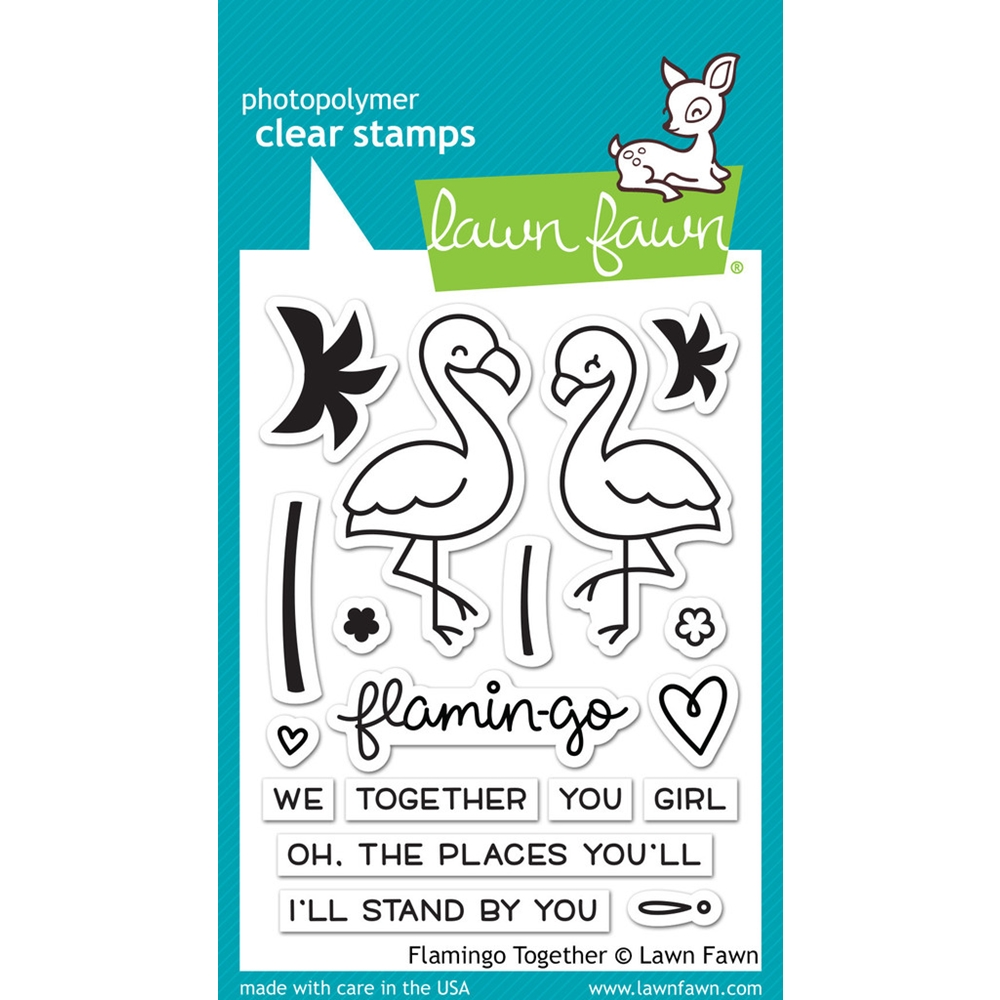 Lawn Fawn FLAMINGO TOGETHER Clear Stamps LF1173 zoom image