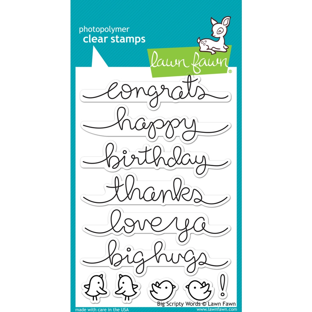 Lawn Fawn BIG SCRIPTY WORDS Clear Stamps LF1171 zoom image