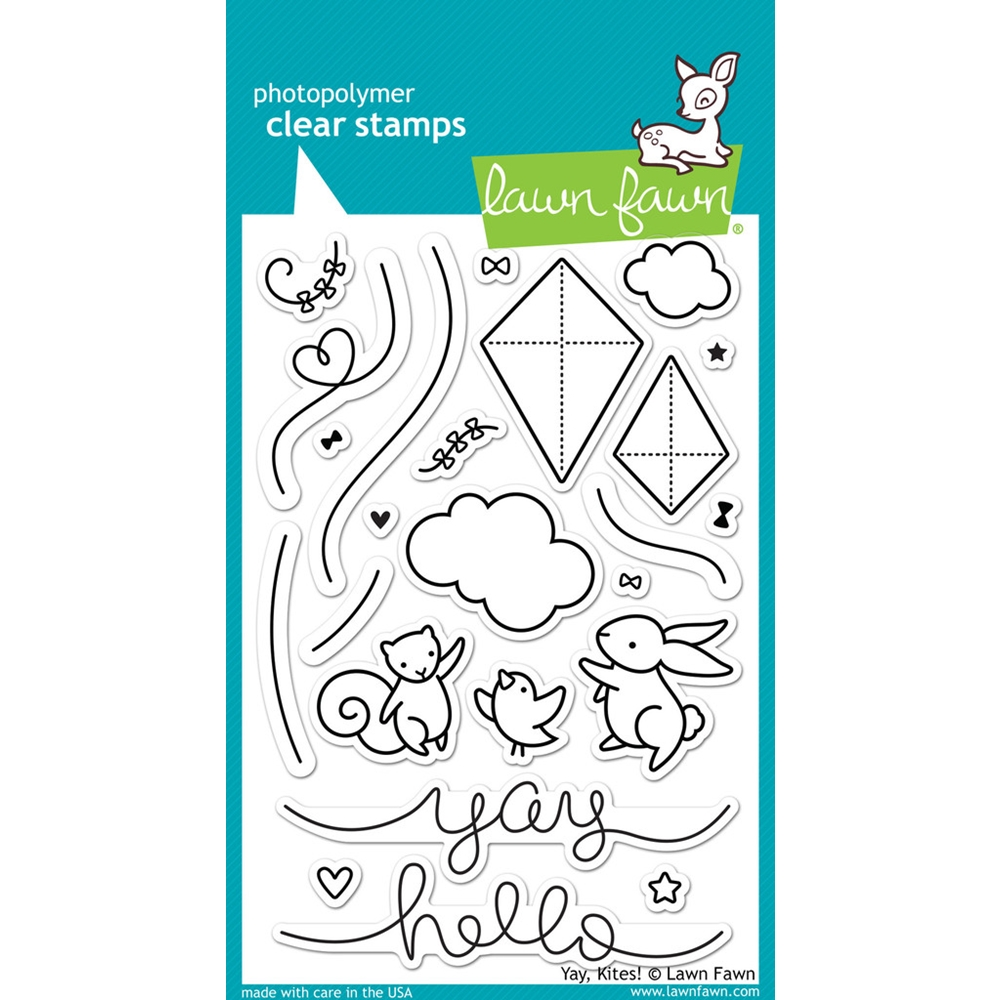 Lawn Fawn YAY KITES Clear Stamps LF1169 zoom image