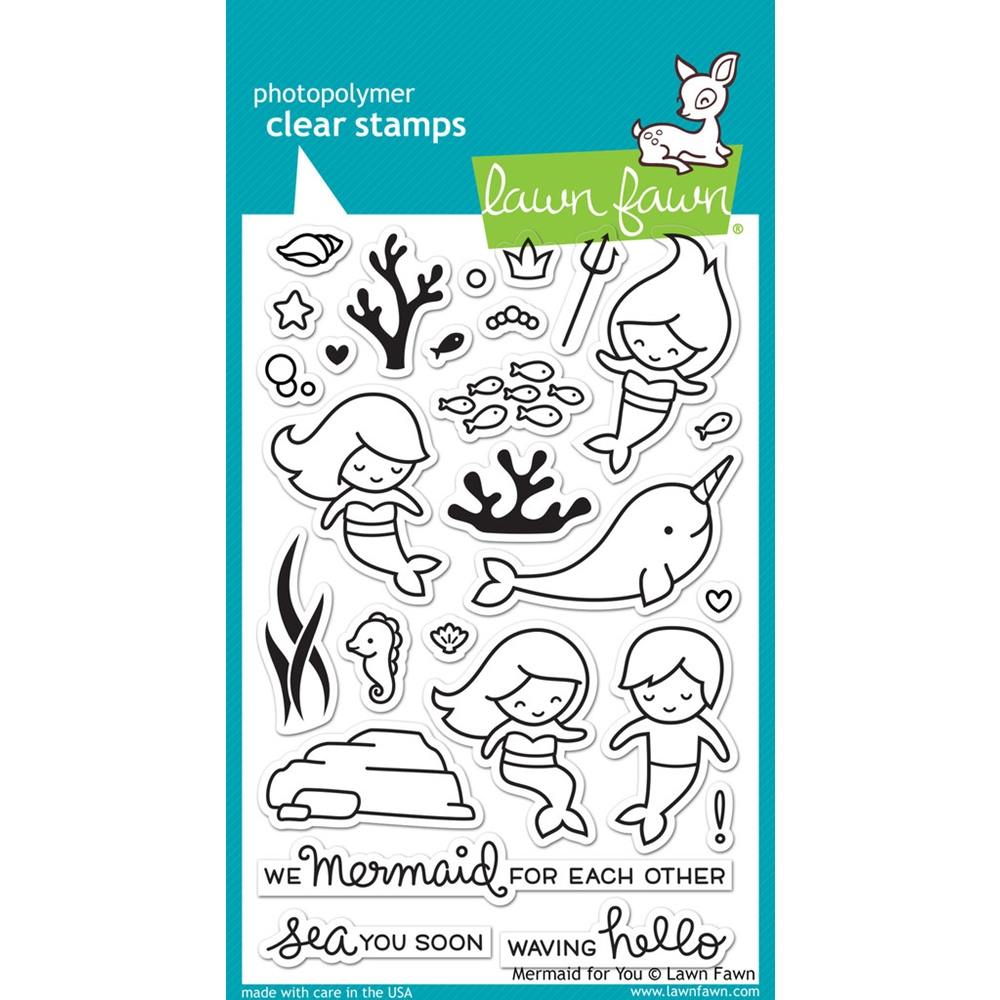 Lawn Fawn MERMAID FOR YOU Clear Stamps LF1167 zoom image
