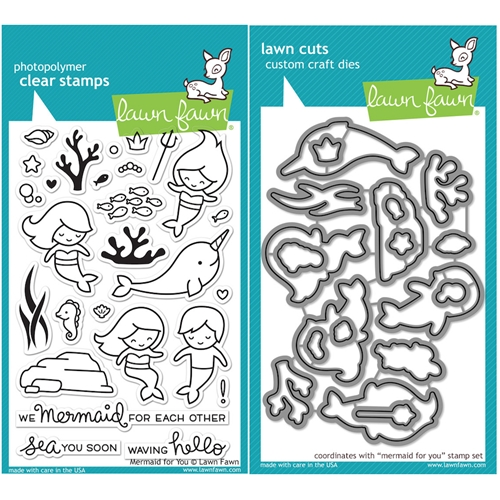 Lawn Fawn SET LF16SETMFY MERMAID FOR YOU Clear Stamps and Dies Preview Image
