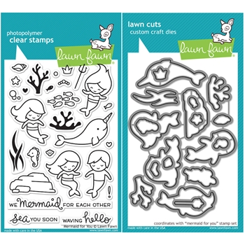 Lawn Fawn SET LF16SETMFY MERMAID FOR YOU Clear Stamps and Dies