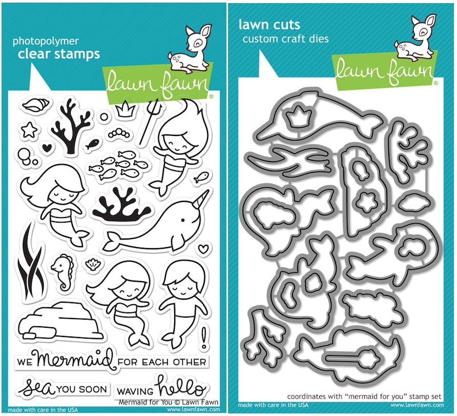 Lawn Fawn SET LF16SETMFY MERMAID FOR YOU Clear Stamps and Dies zoom image