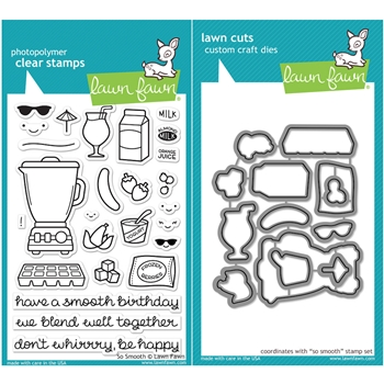Lawn Fawn SET LF16SETSS SO SMOOTH Clear Stamps and Dies*