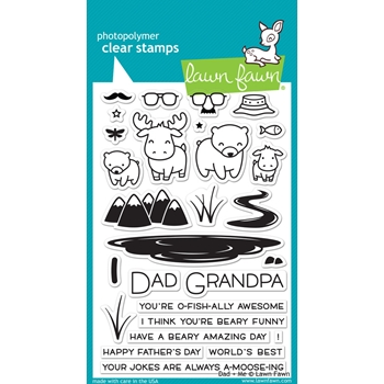 Lawn Fawn DAD AND ME Clear Stamps LF1163