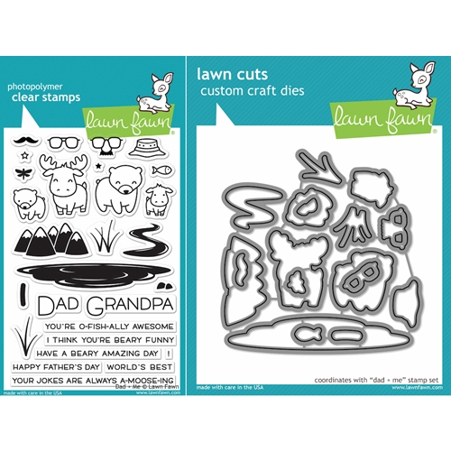 Lawn Fawn SET LF16SETDM DAD AND ME Clear Stamps and Dies Preview Image