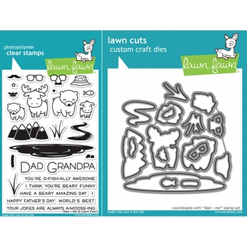 Lawn Fawn SET LF16SETDM DAD AND ME Clear Stamps and Dies