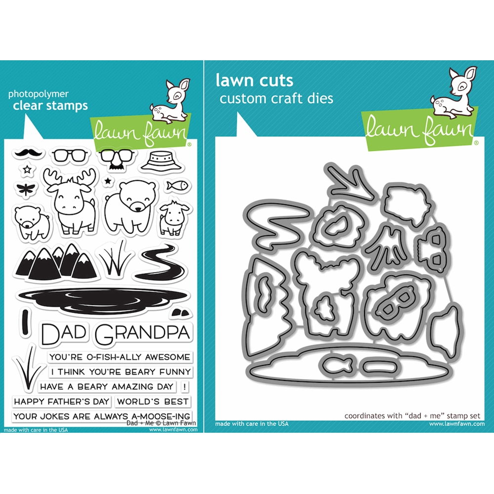 Lawn Fawn SET LF16SETDM DAD AND ME Clear Stamps and Dies zoom image