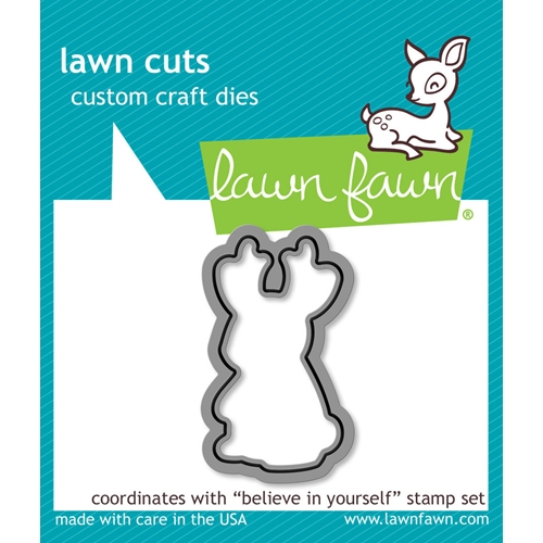Lawn Fawn BELIEVE IN YOURSELF Lawn Cut Die LF1043 Preview Image