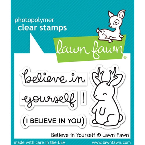 Lawn Fawn BELIEVE IN YOURSELF Clear Stamps LF1042 Preview Image